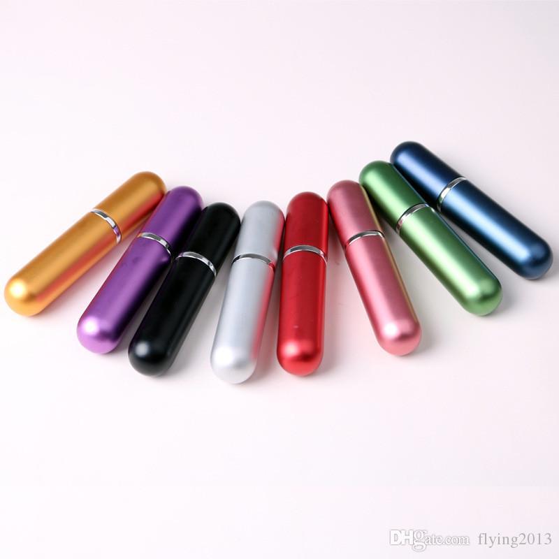 5 ml Nachfüllbare Duftstoffflasche Mini Tragbare Sprühflasche Zerstäuber für Reisen Scent Pump Fall Multi Farbe Verfügbar