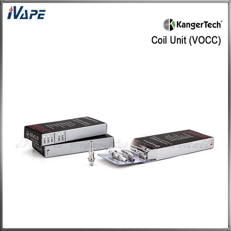 Authentic Kanger Upgraded Dual Coils VOCC Coil Unit For Aerotank Mini Mega Protank 3 EVOD 2 T3D Atomizer Kangertech VOCC Organic Cotton Coil
