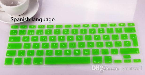 German Russian Arabic Spanish Swedish waterproof Keyboard Cover Clear Silicone Rubber For Macbook Pro Air 11 13 15 17 inch US EU Version