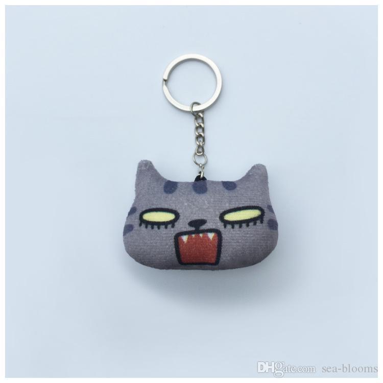 Großhandel Tragbare Tiere Kreative Cartoon Katze Keychain Mode Geschenk Schlüssel Anhänger Schöne Mädchen Keychain Unterstützung FBA Versand D336S
