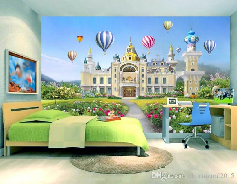 moderne Art luxuriöse Tapete Mordern Dream Castle TV Hintergrund Wallpapers Fashion Mural Wallpaper Desktop-Hintergründe