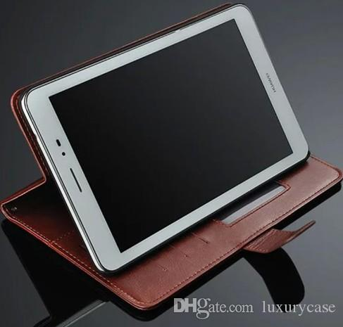 Kantoor geval voor Huawei S8 Case Stand Photo Luxe Portemonnee Flip Leren Case Voor Huawei MediaPad Honor T1 8.0 S8 701U 701W