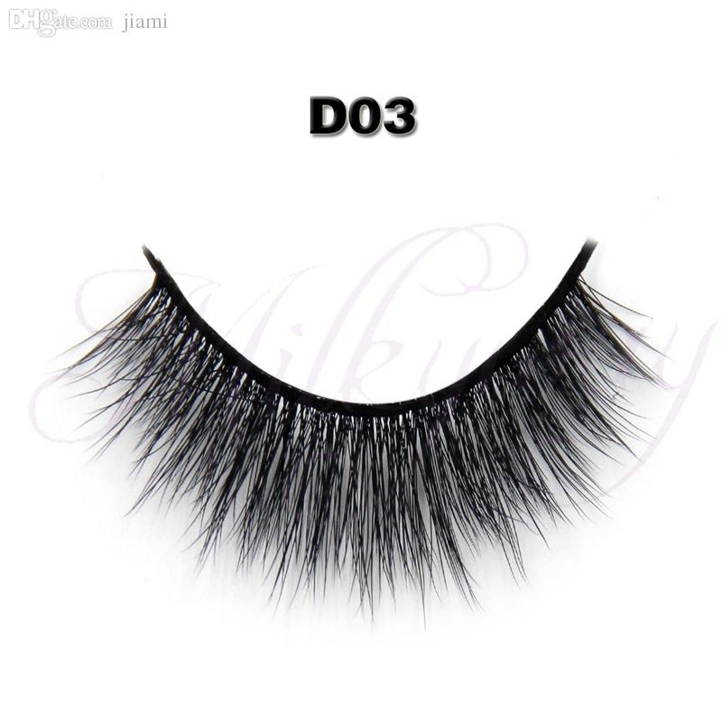Wholesale-Free shipping Top quality luxury Newest private label false eyelash 3D style with 0.07 silk eyelashes