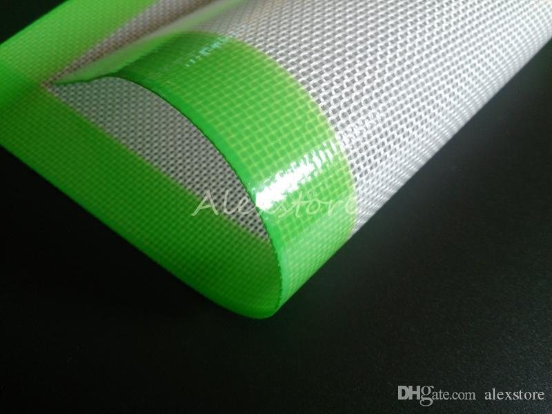 Almofadas de cera de silicone erva seca tapetes grandes 20 cm rodada ou 31 * 20 cm praça cozimento mat dabber folhas frascos dab ferramenta para silicon recipiente vaporizador