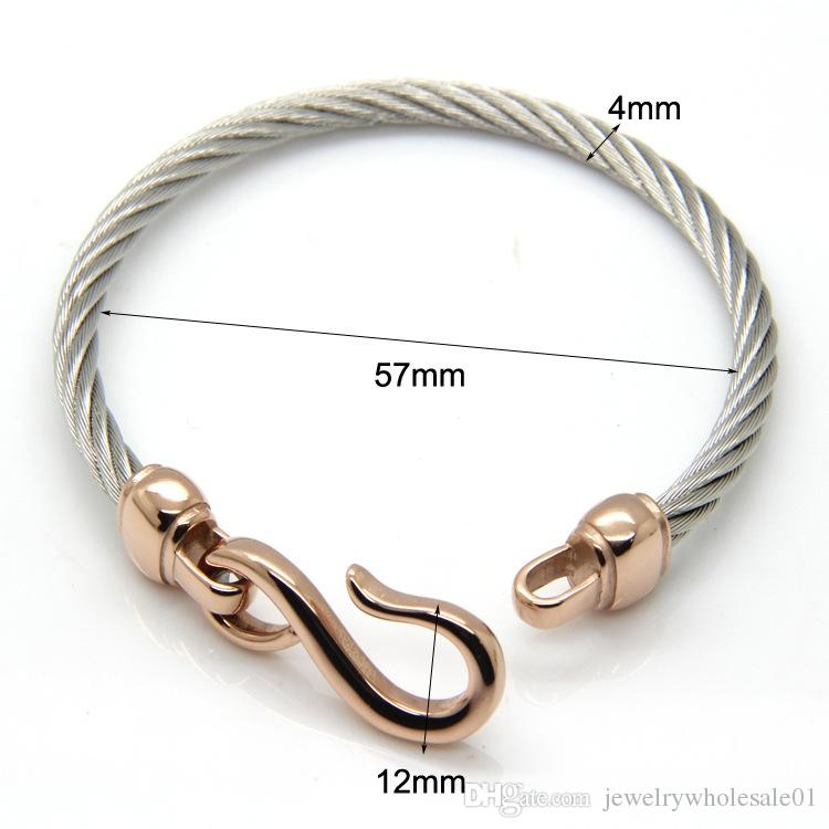 Hot Sale Lovers T Gioielli Nascosto-Safety-Catenacci Pulseira Masculina 18 K acciaio inossidabile bracciali in titanio polsino Braccialetti gioielli All'ingrosso
