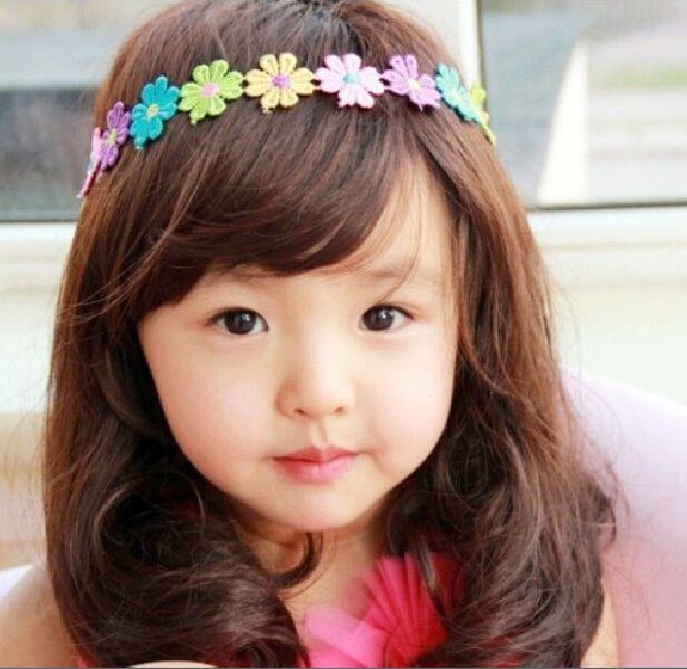bdadf1569396 2 15 Year Baby Girl Colorful Sunflower Elastic Headband