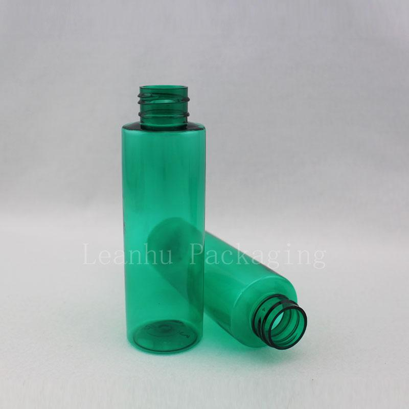 100ml green bottle with lotion pump (3)