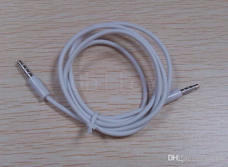 Cavi audio AUX da 3,5 mm Cavi audio stereo auto maschio-maschio altoparlante del telefono MPe bianco o nero 1M 100 pezzi in su