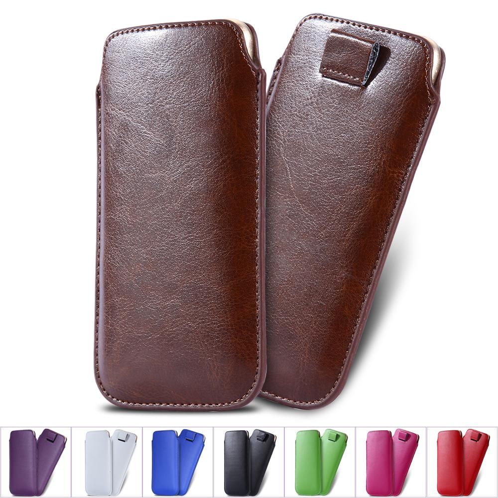 purchase cheap a1e3d 5d8a8 5.5 inch Universal Leather Pouch cell phone Case For iPhone 6 Plus 5C 5S  Galaxy S6 S5 S4 Pull Tab Sleeve Cover