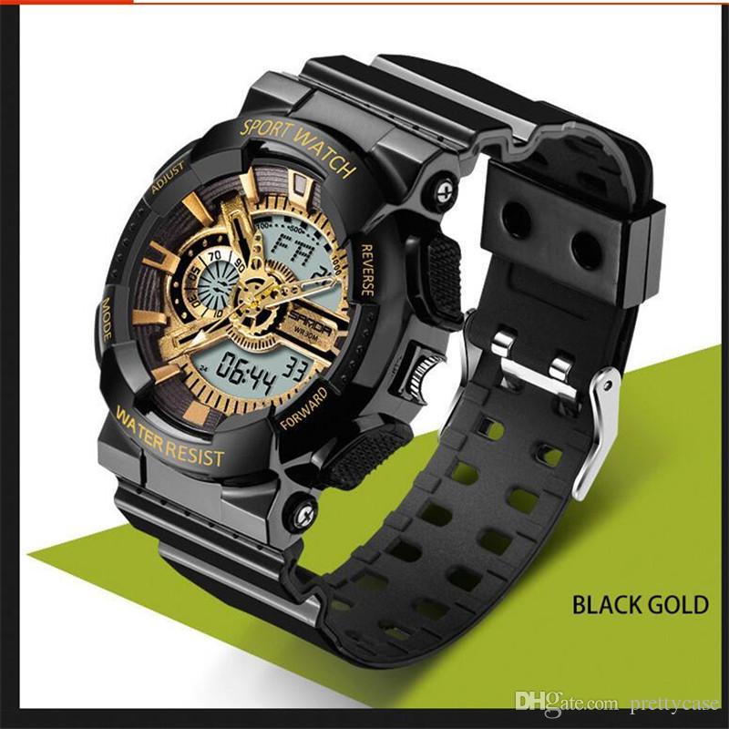 cda20bc4f83 Luxury SANDA Watches Multifunction Led Digital Wristwatch Men Women Unisex Outdoor  Sports Waterproof Military Watches Christmas Gift Watch Watches Online ...