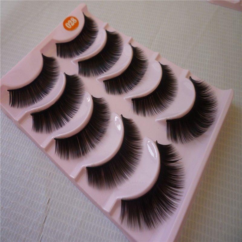 Long Thick False Eyelashes Professional Makeup Soft Natural Fake Eye Lashes Elongated Eye End False Eye Lashes 1 cm -1.5 cm