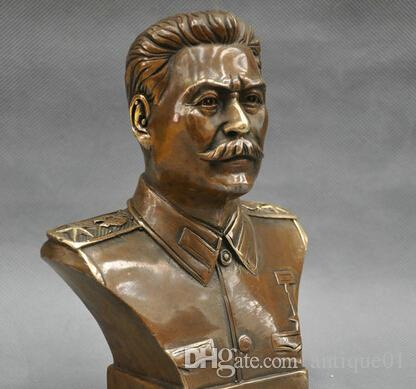 6'' Russian Leader Joseph Stalin Bust Bronze Statue home decoration