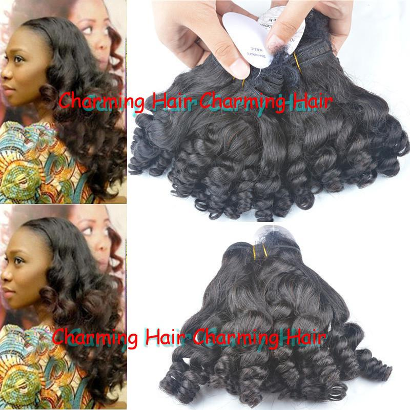 8a Double Drawn Virgin Human Hair Weaves Bouncy Wave Nigerian Aunty