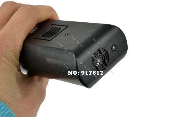 Al por mayor-/ LOTE Negro Nuevo Diseño Ultrasónico Mascota Perro Dispositivo de Entrenamiento del Remolcador Anti Bark Stop Barking Entrenador 9734 F