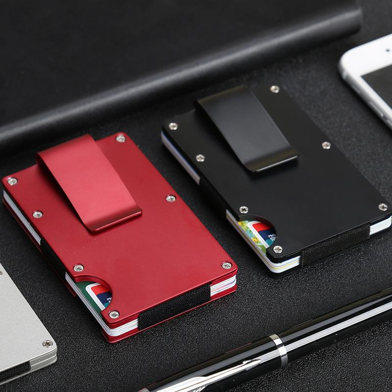 Stainless steel card holder wallet men s metal wallet creative stainless steel card holder wallet men s metal wallet creative fashion tide security brush bank card business card holder wallet sale male wallets from colourmoves