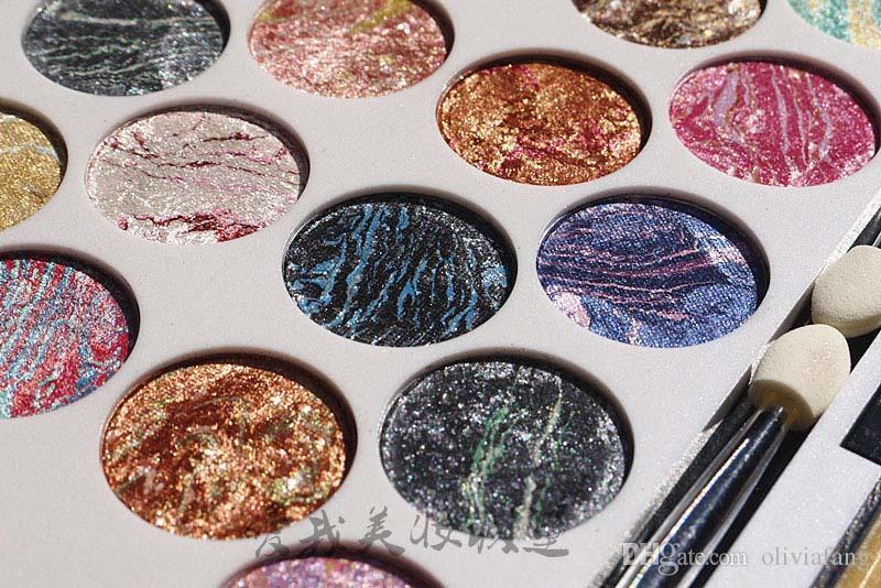 Tão bonito! Paleta de maquiagem profissional 18 Cores sombra cozida Fantástico kit sombra de olho diamante brilhando sombra do olho da sombra maquiagem