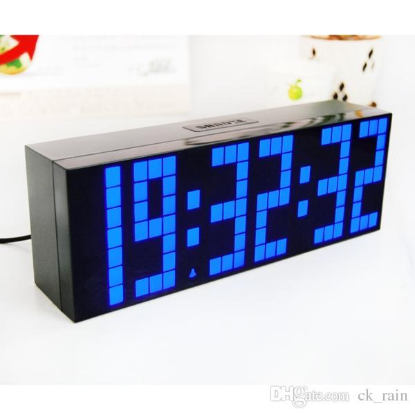 Big Font Led Digital Alarm Temperature Calendar Wall Clocks