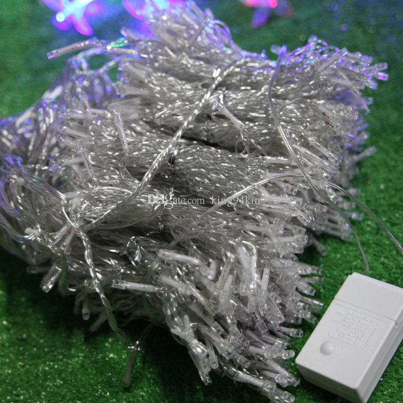 10 * 3M LED Cortina Luz Adorno Navidad Flash Coloreed Fairy Decoración de la Decoración Iluminación LED Strip String String 1000 Lituras Bulbs Impermeable