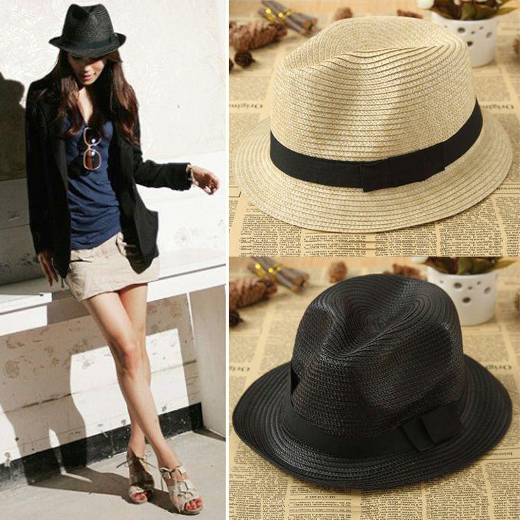 213a48a6 Wholesale New Fashion Women Men Unisex Couples Jazz Hat Cap Beach Sun Hat  Straw Hat Multi Colors Drop Shipping HT 0044 Panama Hat Trilby From Zhijin,  ...