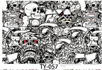 3000X150CM Roll JDM Skull Pattern Cartoon Graffiti Car Sticker Bomb Wrap Large Sheet Decal Brand