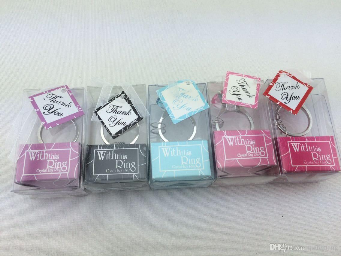 Wedding Gifts For Women: Diamond Ring Shape Keychain Cheap Home Party Favors