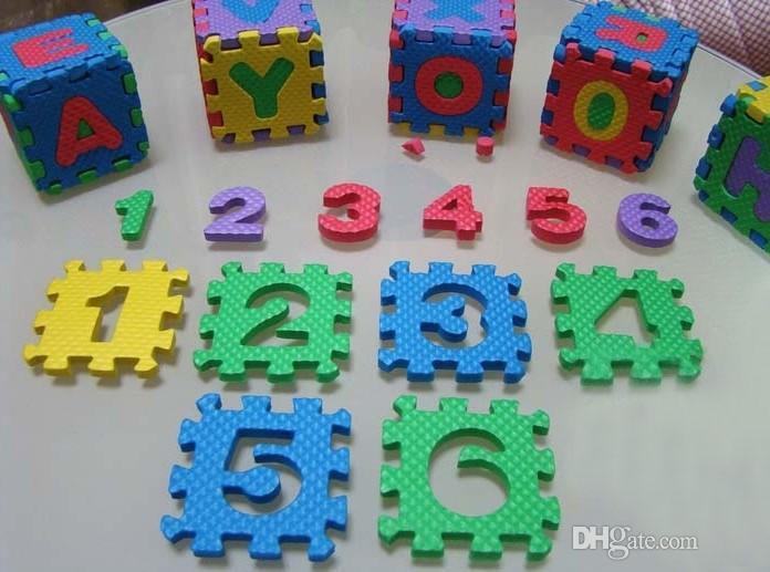 All'ingrosso-ecologico EVA schiuma numeri di puzzle + lettere tappetino da gioco puzzle tappetini bambino tappetino pad giocattoli bambini tappeto negozio di giocattoli 7 cm