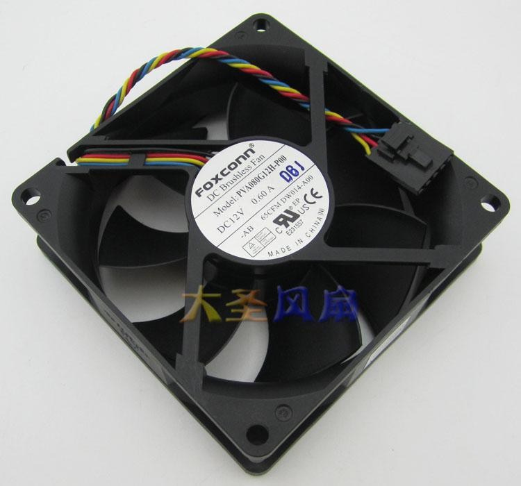 Original FOXCONN PVA080G12H-P00 12V 0.60A 8CM 8025 4 -wire for Dell computer fan