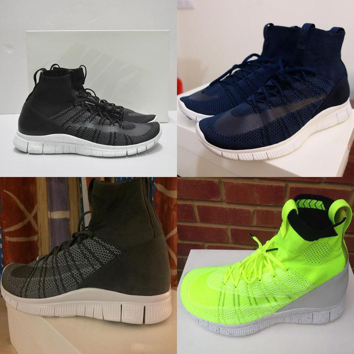 new products 12613 1cb93 Nike Free Mercurial Superfly Flyknit SP Dark Obsidian HTM Volt 5.0 Black  Dark Blue Grey Green Mens Running Shoes Boots Men Sneakers Trail Shoes Shoes  ...