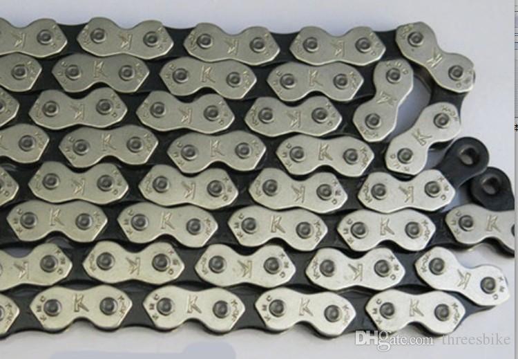 Ein PC Fixed Gear Fahrradketten Fixed Gear Track Radfahren Fahrradkette Single Speed Chain Magic Button Ketten Fahrradzubehör für Räder