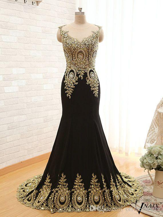 Real Pictures 2018 New Arrival Evening Dresses Unique Design Peacock Crystal Lace Mermaid Prom Dresses Sweep Train Celebrity Gowns