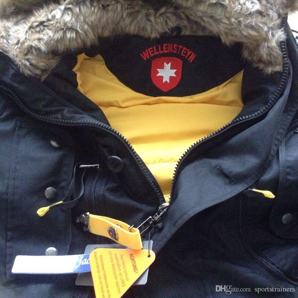 fc81dcbdd38bf 2019 Wellensteyn Seewolf Parka With Fur Collar Men Long Down Jackets Männer  Daunenparka Germany Wellensteyn Winter Hooded Jacket Coat YKK Zipper From  ...