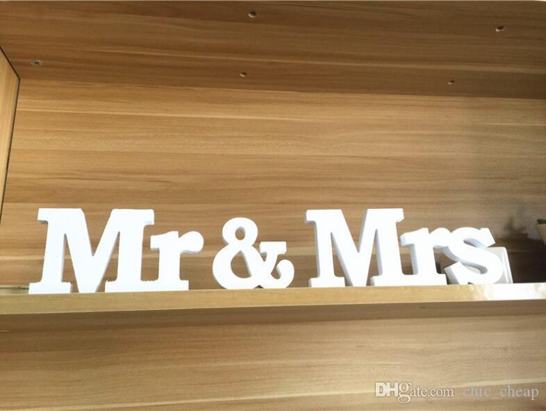 Sr. Sra. Sinais Sr. Sra. Letras Para Querida Tabela Decoração Senhoras Mrs Sinal De Casamento Confietti Fontes Do Casamento Popular
