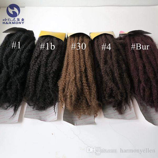 "100% Kanekalon Afro Twist Kinky Marley Twist Hair Extension Marley Braid Hair 20"" Long 1/1B/2/4/30/33/burgundy Factory Direct"