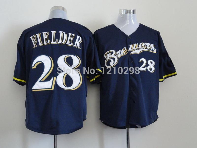... 2017 30 Teams New 28 Prince Fielder Jersey 2014 Milwaukee Br Authentic  White ... e80d2a7a1