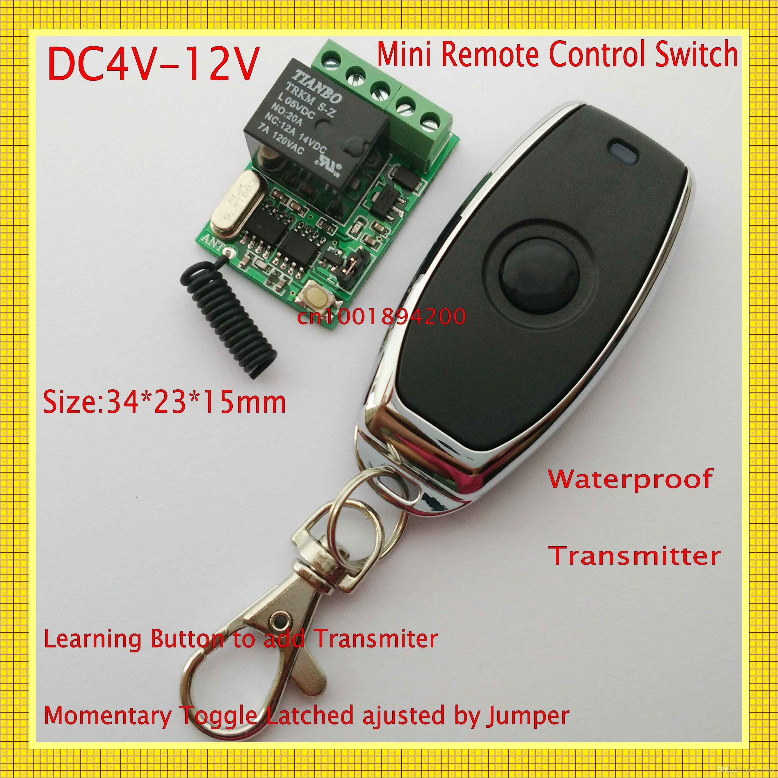 2018 Micro Relay Remote Switch 4v 5v 6v 74v 9v 12v Switching With A Toggle Latching You Would Still Need 2 Switches Wireless On Off 10a Ask From Szwxyk 805