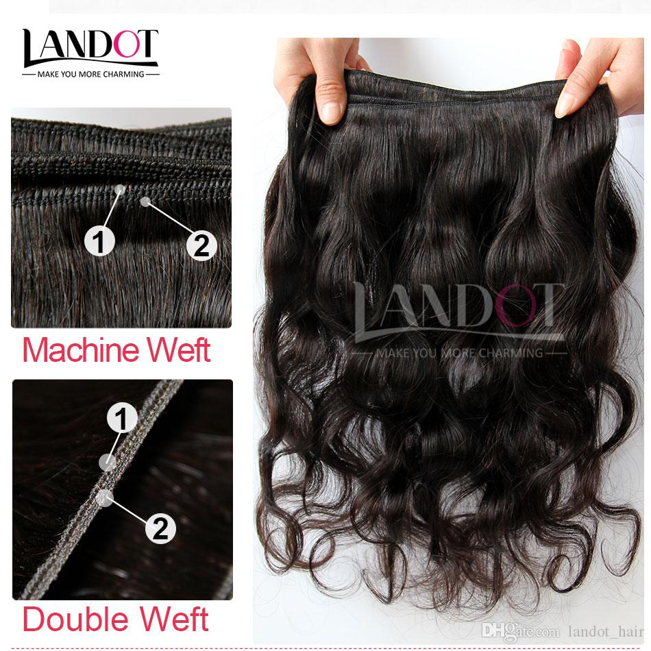 9A Grade Indian Body Wave Virgin Human Hair Weave Bundles Unprocessed Raw Indian Remy Hair Extensions Thick Soft Full Hair Double Wefts