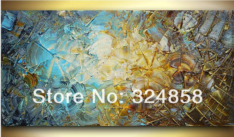 2018 Painting & Calligraphy Acrylic Modern Blue Brown Impasto ...