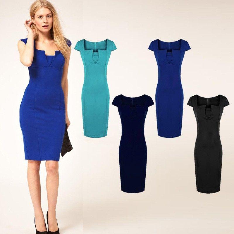 998ff44fbc1 V Neck Work Dress – fashion dresses