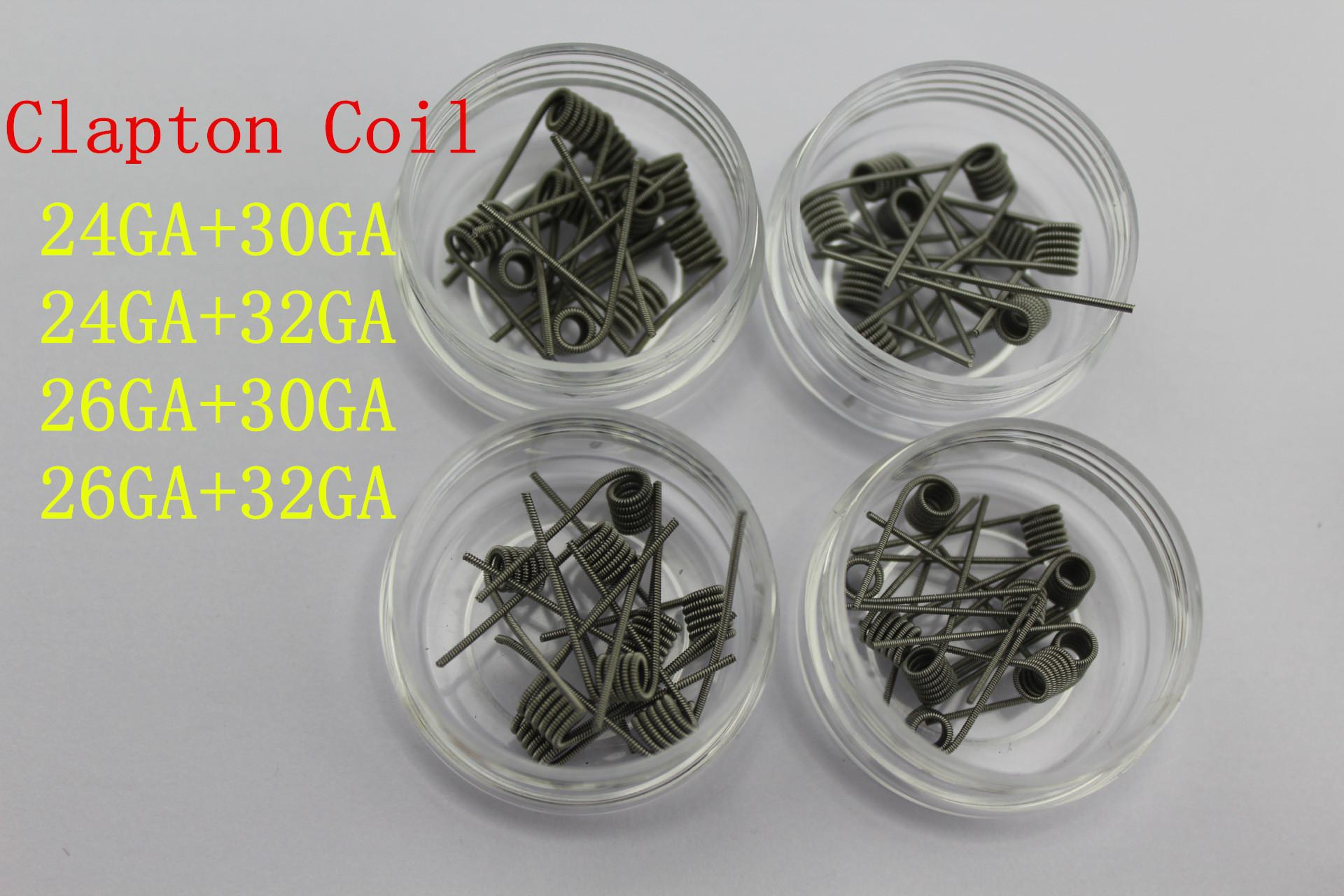 2016 Clapton Coil Wire 24/26awg Base with 30/32awg Wrap Resistance ...
