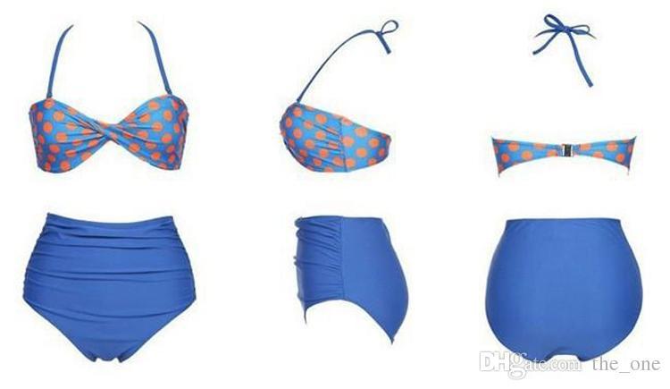 Mulher maiô brasileiro 2016 bandeau push up conjuntos de biquíni de cintura alta conjunto de biquíni mulheres swimwear maiôs de cintura alta frete grátis