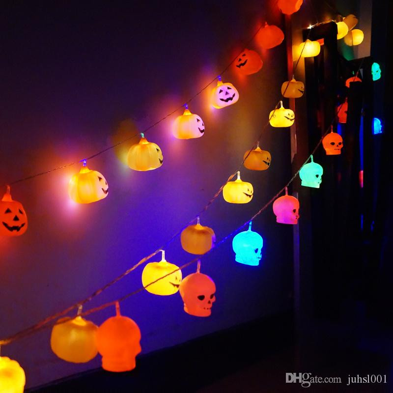 Creative Funny Halloween Pumpkin Eyeball String Light Fashionable Holiday Party Led Light Increase Holiday Romantic Atmosphere Home & Garden Event & Party