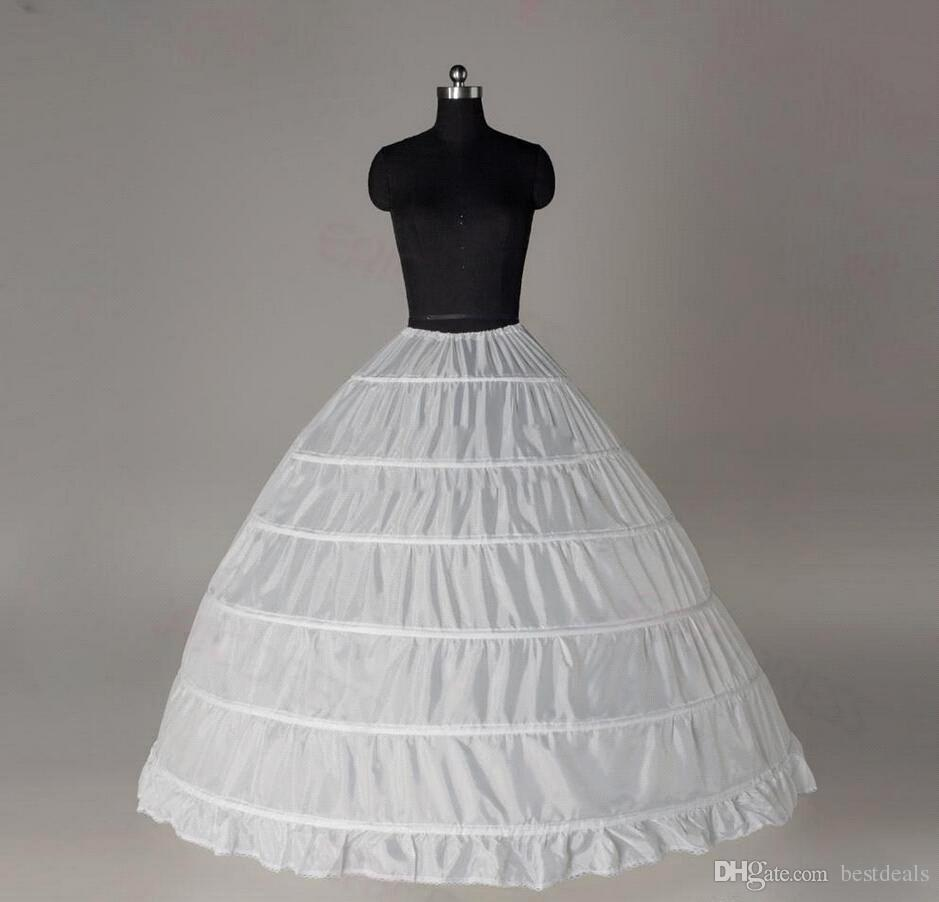 6 Hoops Ball Gown Petticoat Crinoline Underskirt Bridal Petticoats ...