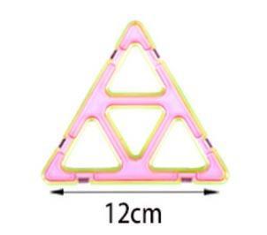 단일 큰 삼각형 다양 한 어린이 빌딩 블록 자기 시트 자기 지혜 매직 조각