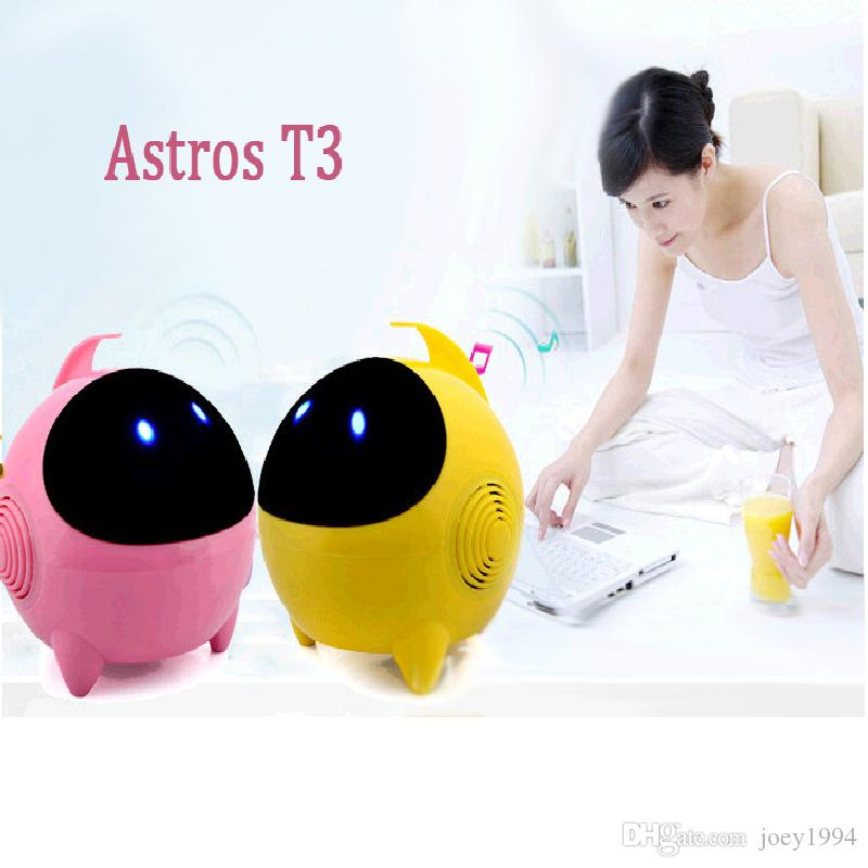 T3 Mini Speakers HIFI Music Player Lovely Alien Subwoofer Loudspeaker Cartoon Loudspeakers, USB2.0 laptop speakers, Portable Music Sound Box