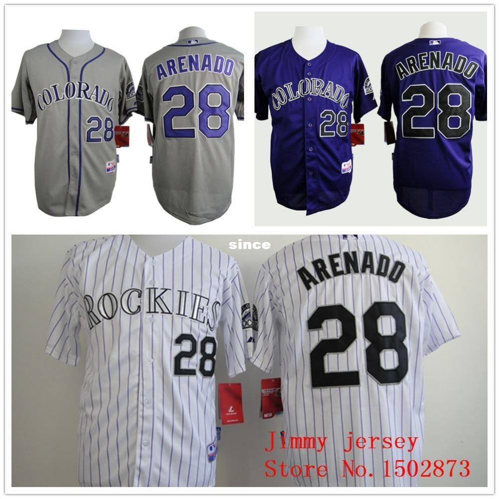 ... 2017 30 Teams Nolan Arenado Jersey Colorado Rockies Jerseys 28 Nolan  Arenado Jerseys White Purple Grey ...