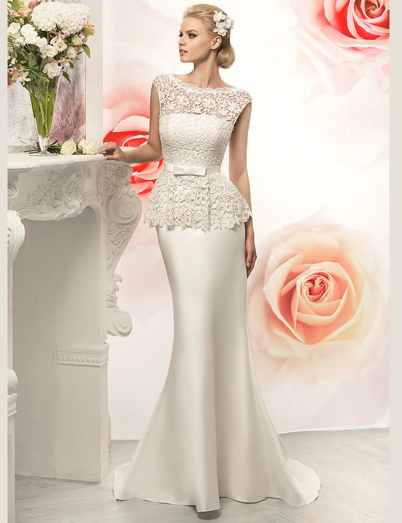 Bateau neck sexy mermaid wedding dresses with peplum cap sleeve bateau neck sexy mermaid wedding dresses with peplum cap sleeve 2015 lace bridal blush wedding dress wedding dresses london weddingdresses from mygirl621621 junglespirit Gallery