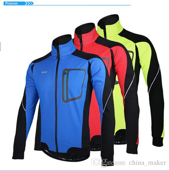 015 New ARSUXEO Winter Warm Up Thermal Cycling Jacket MTB High Quality Men Bike Bicycle Clothing Windproof Waterproof Jersey Ropa Ciclismo