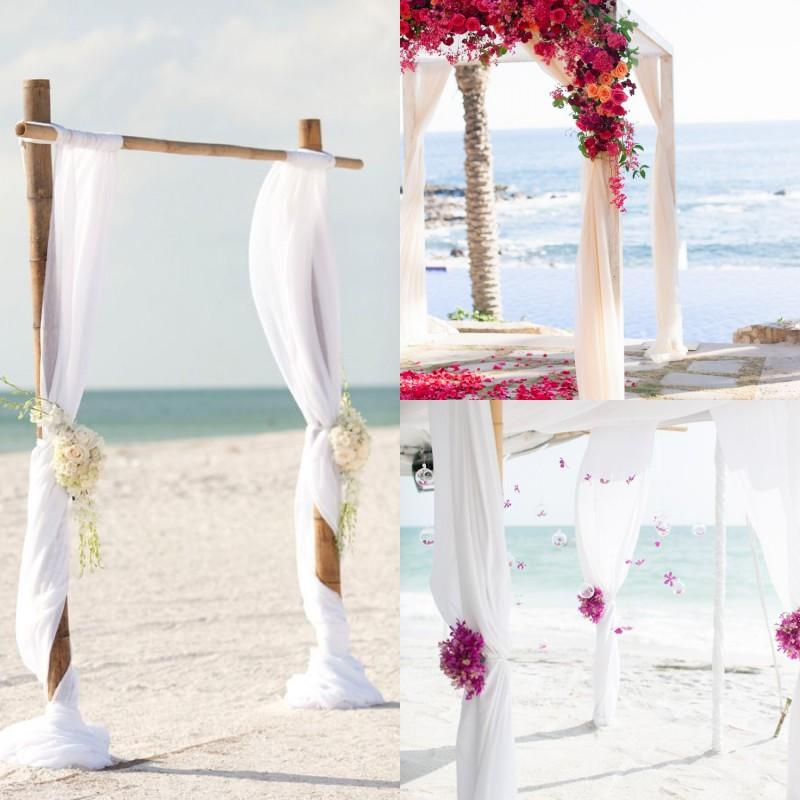 Spring Summer Beach 2015 White Ivory Red Green Pink Chiffon Sashes