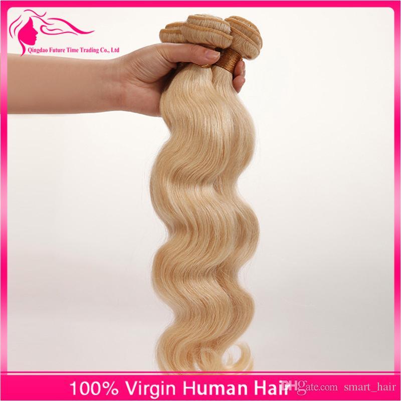 7A 러시아 금발의 버진 머리카락은 3 개짜리 로트 100 %는 처리되지 않은 러시아어 버진 헤어 바디 웨이브 613 플래티넘 금발의 인간의 머리카락