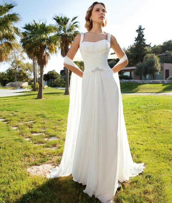 Discount Wedding Dresses A Line Backless Floor Length